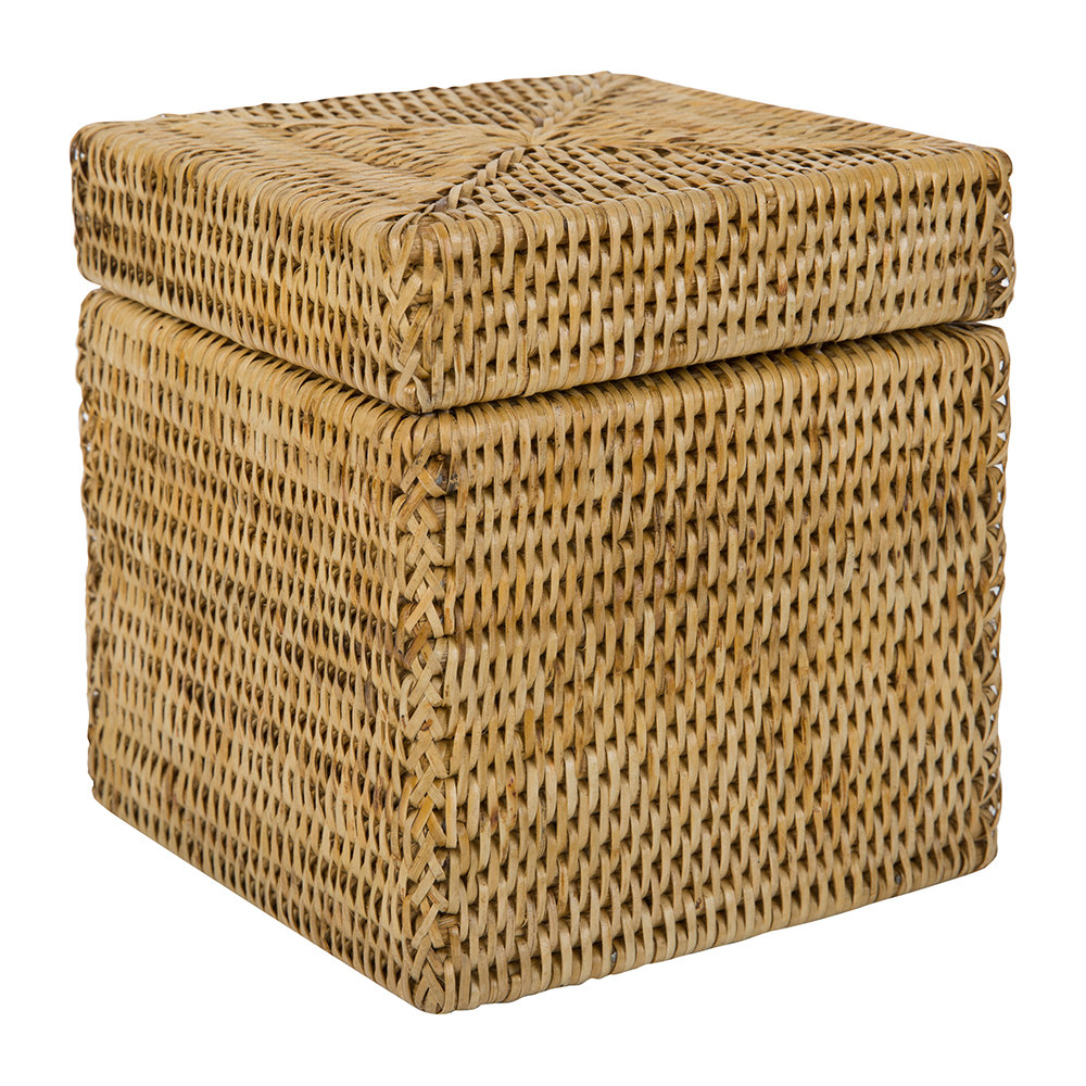 Baolgi - Square Lidded Basket - Natural
