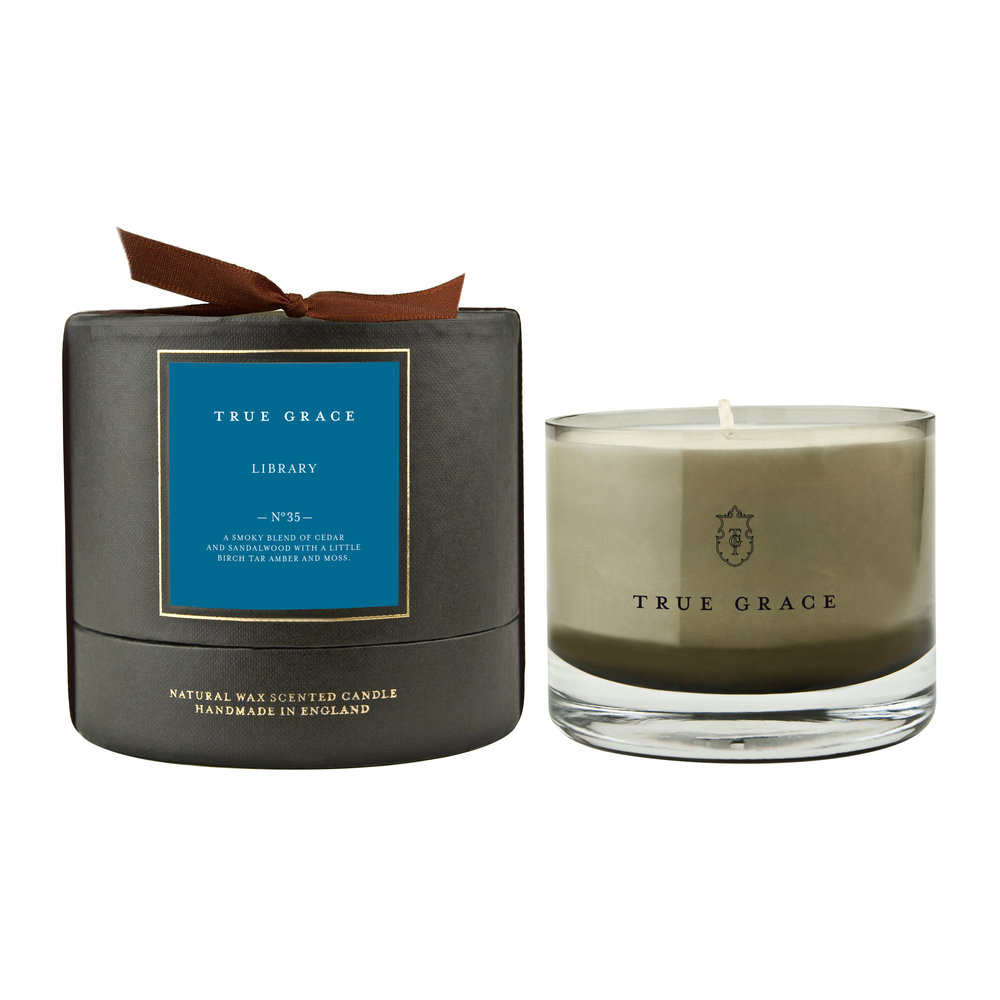 True Grace - Manor Candle - 225g - Library