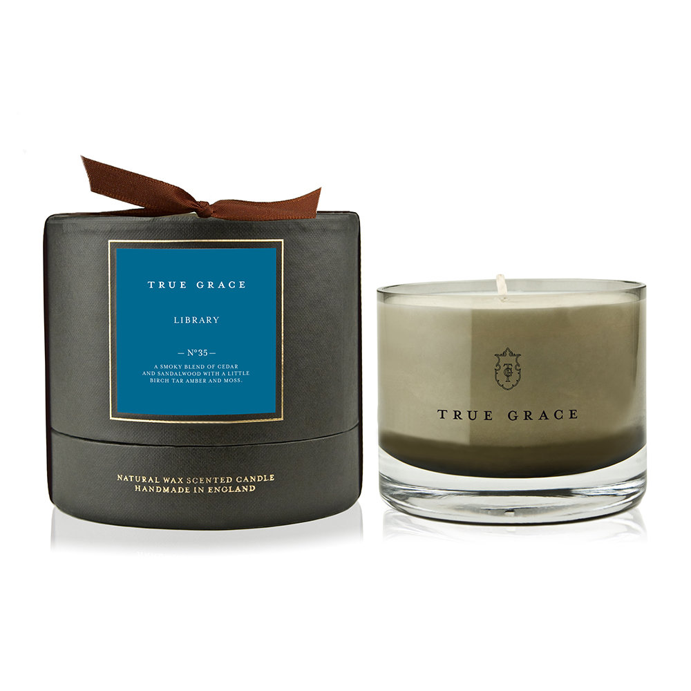 True Grace - Manor Candle - Library - Single Wick - 225g