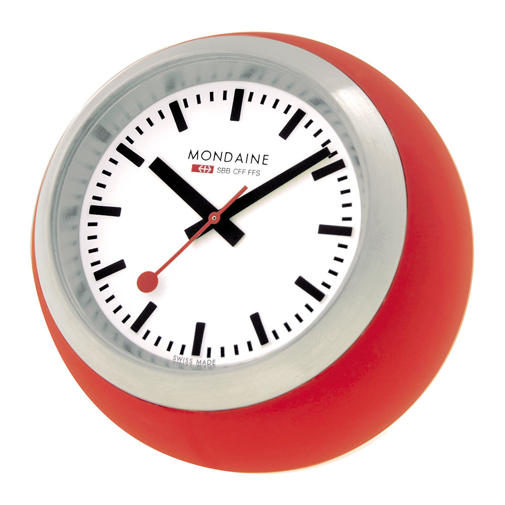 Mondaine SBB - Globe Desk Clock - Red