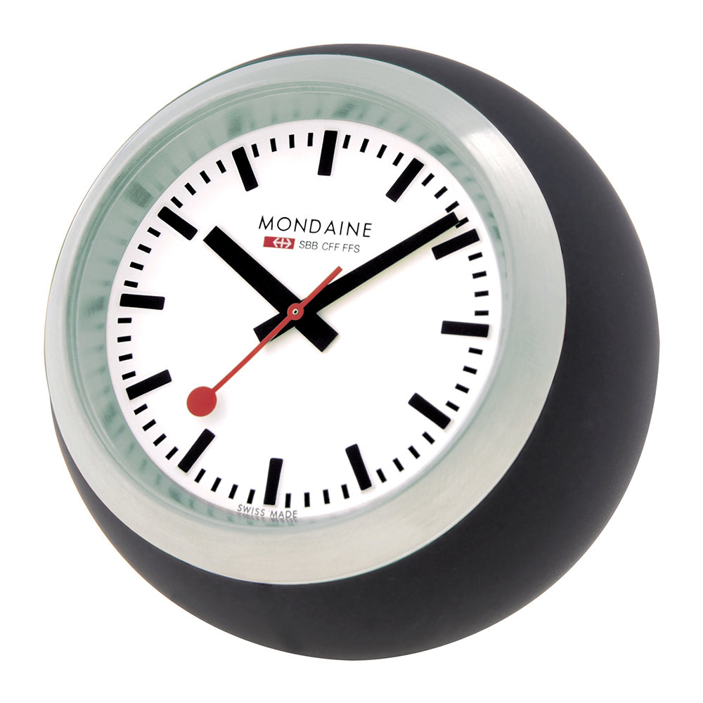 Mondaine SBB - Globe Desk Clock - Black