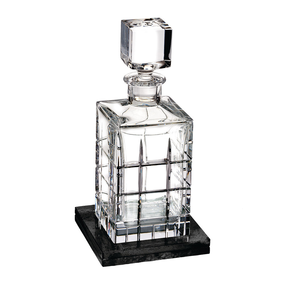 Waterford - Cluin Square Decanter with Marble Coaster