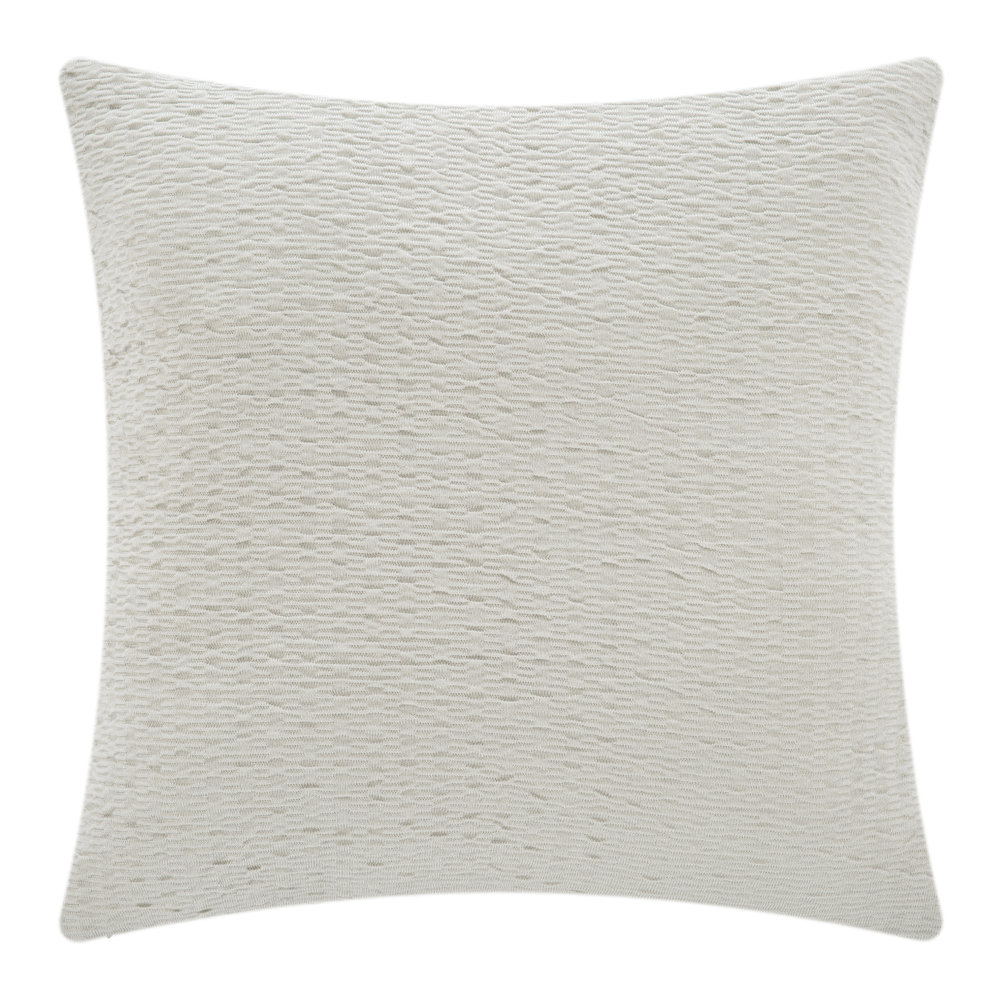 DKNY  Motion Crinkle Knit Bed Pillow  Oatmeal  65x65cm
