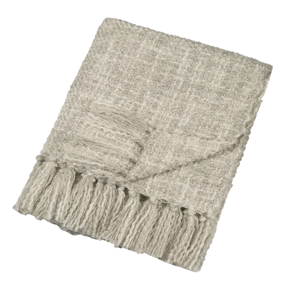 DKNY - Boucle Throw - 127x152cm - Natural