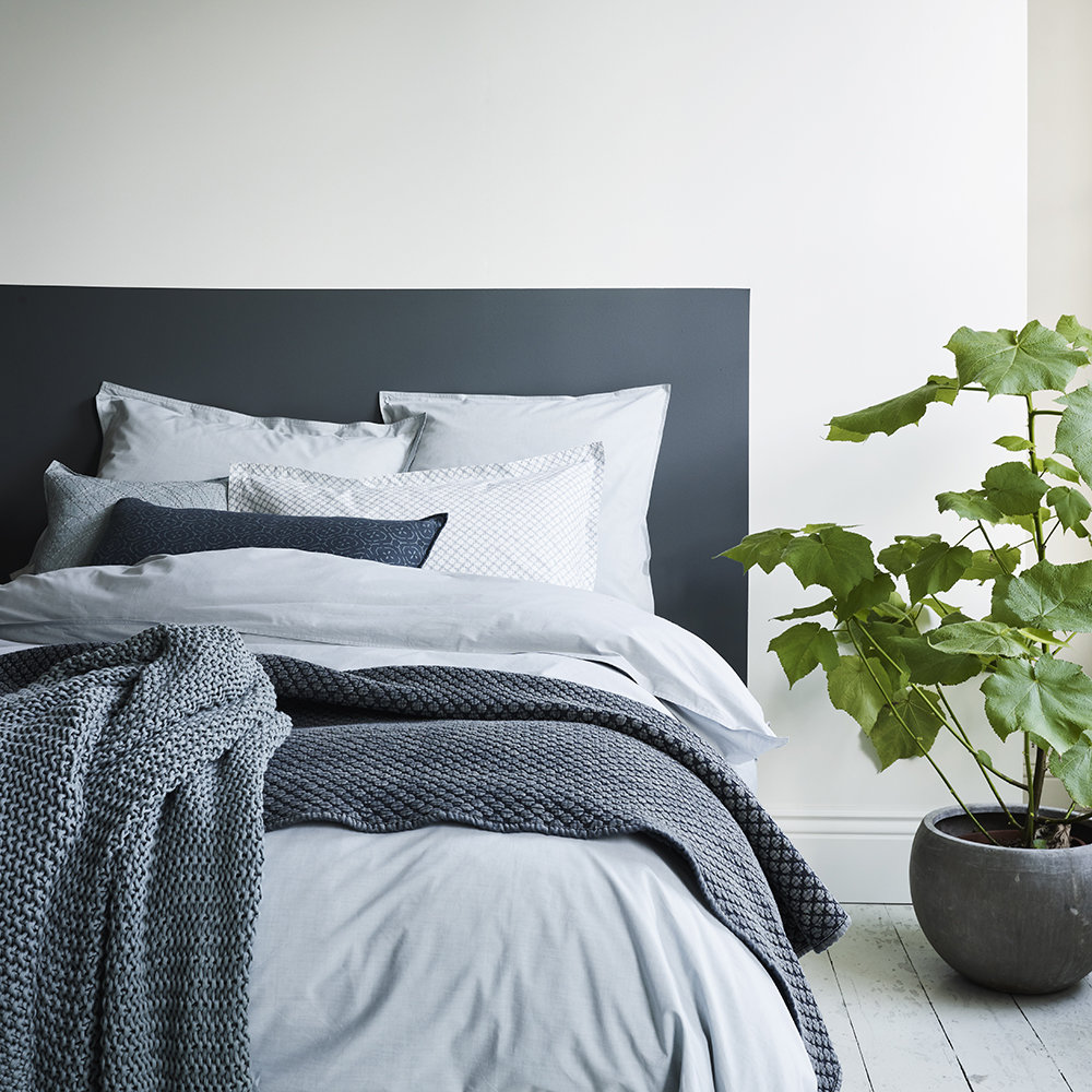 Murmur - Chambray Duvet Cover - Eucalyptus - Super King