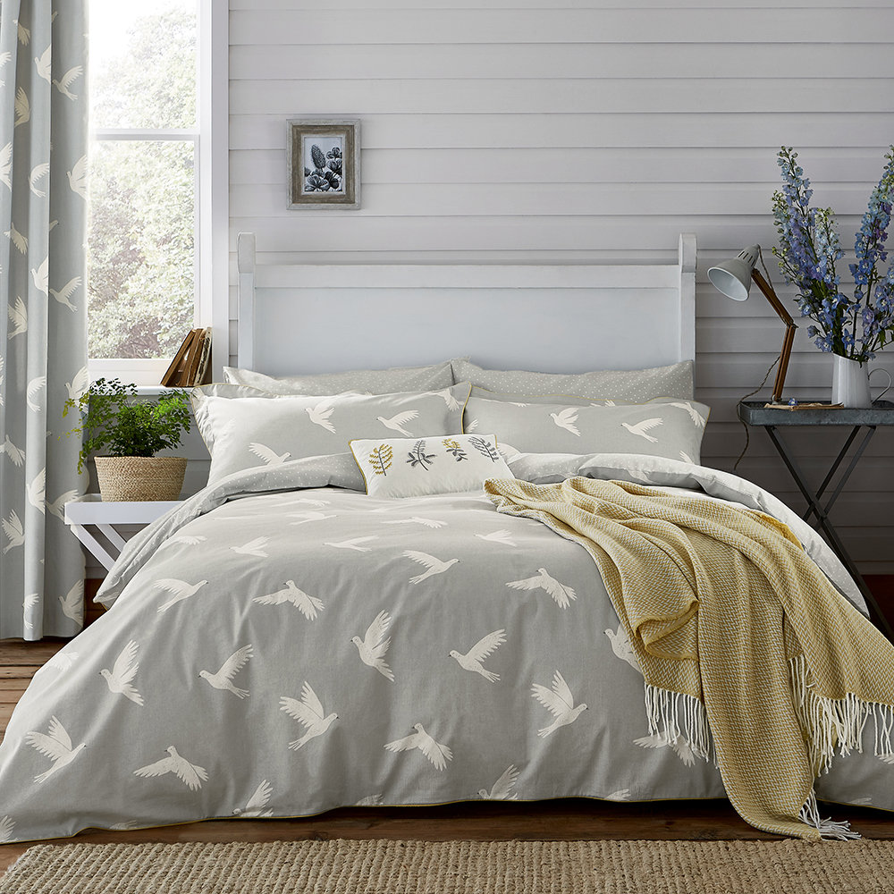 Buy Sanderson Paper Doves Duvet Cover Mineral King Amara