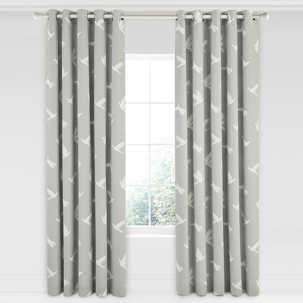 Buy Sanderson Paper Doves Lined Curtains