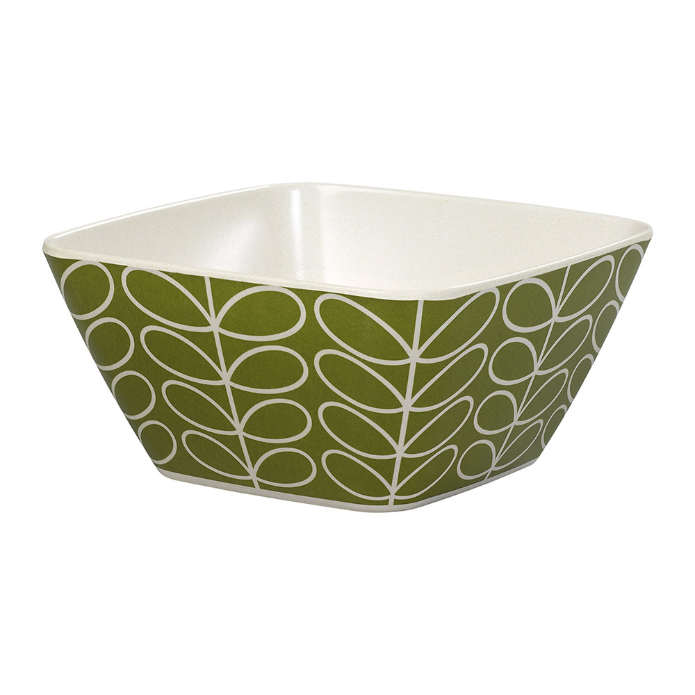 Orla Kiely - Bamboo Bowl - Linear Stem - Seagrass