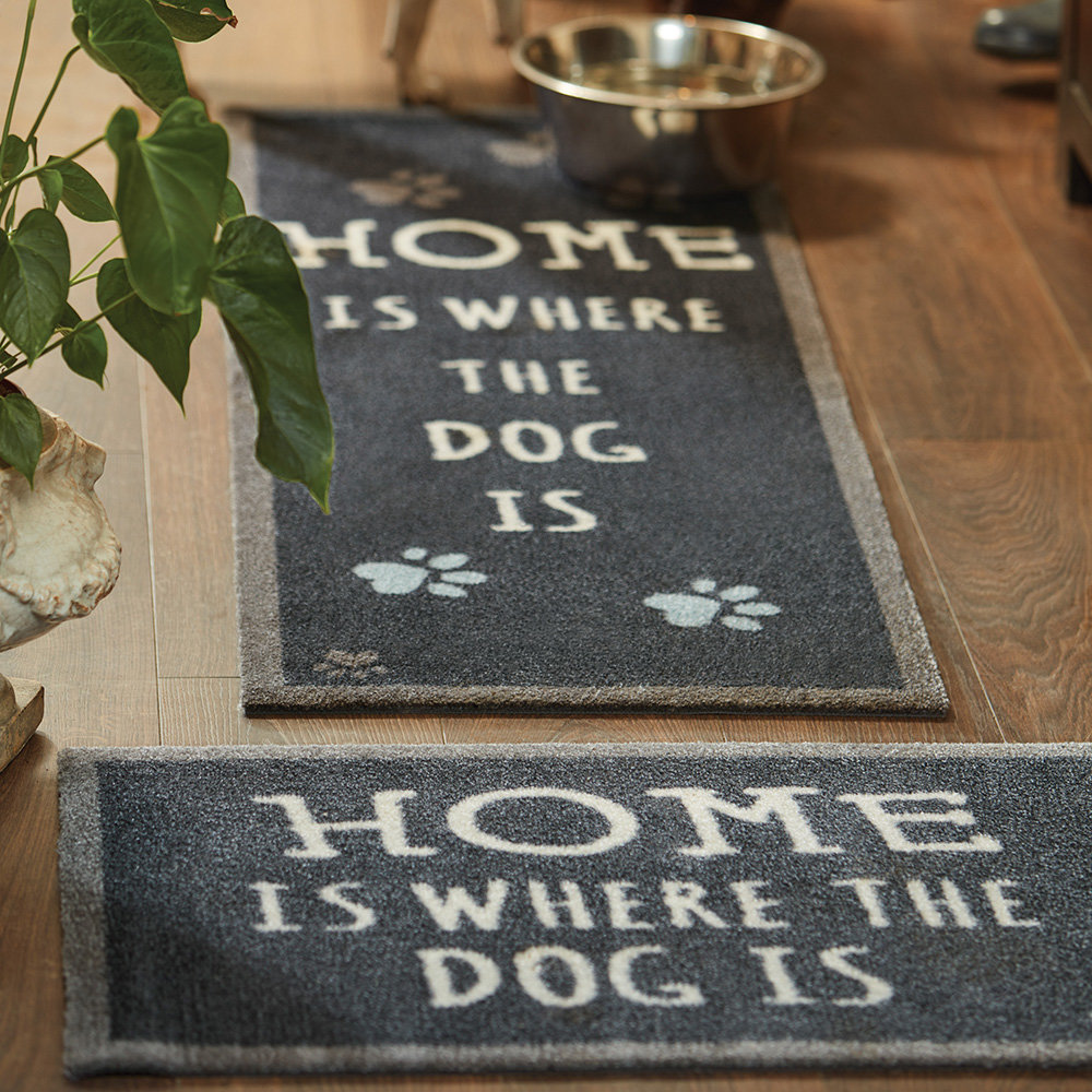 Hug Rug - Home Is Where The Dog Is Washable Recycled Door Mat - 65x85cm