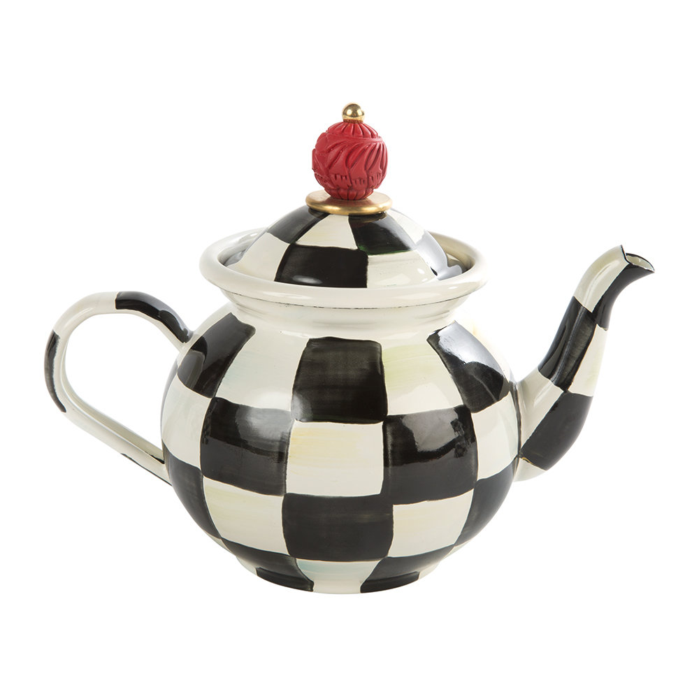 MacKenzie-Childs - Courtly Check Tea For Me Pot