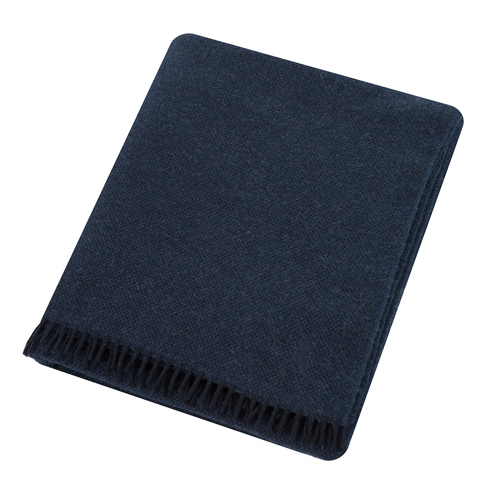 Zoeppritz since 1828  Must Relax Virgin Wool Blanket  130x190cm  Navy