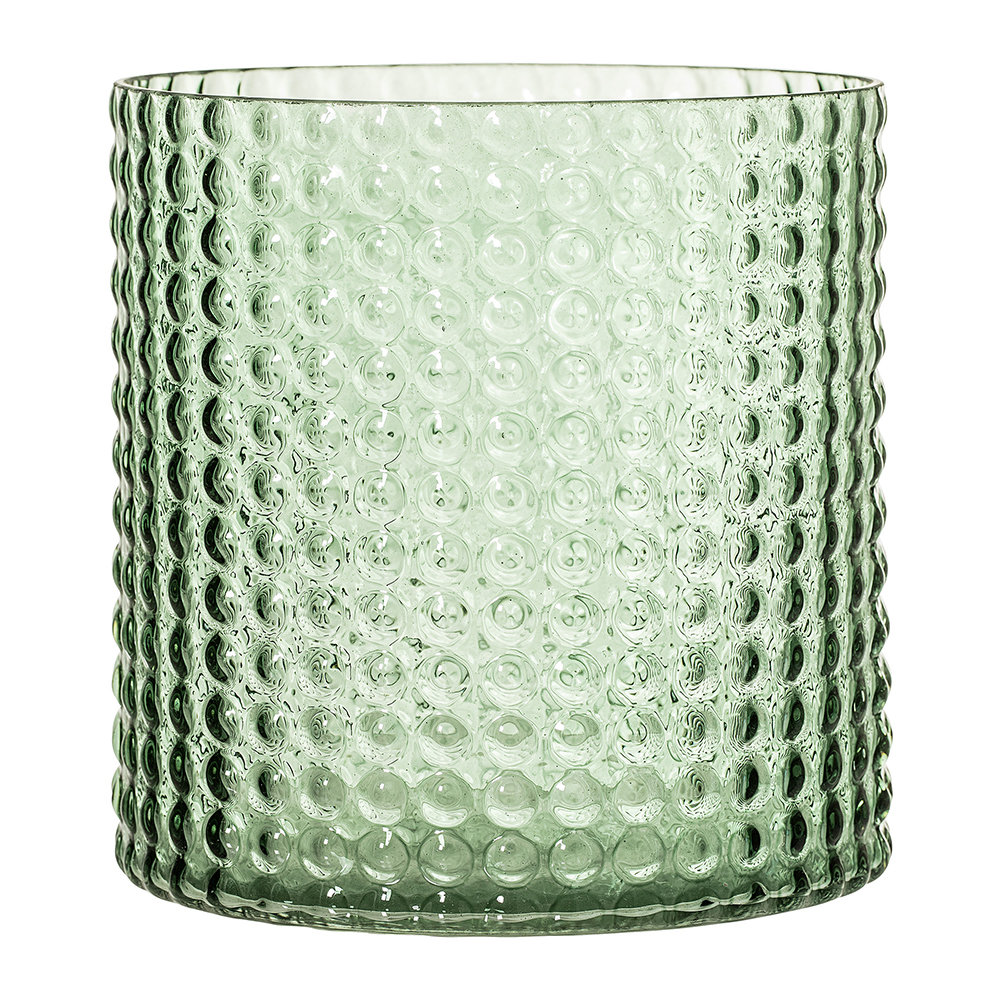 Buy Bloomingville Dotted Cylindrical Glass Vase Green 165cm Amara