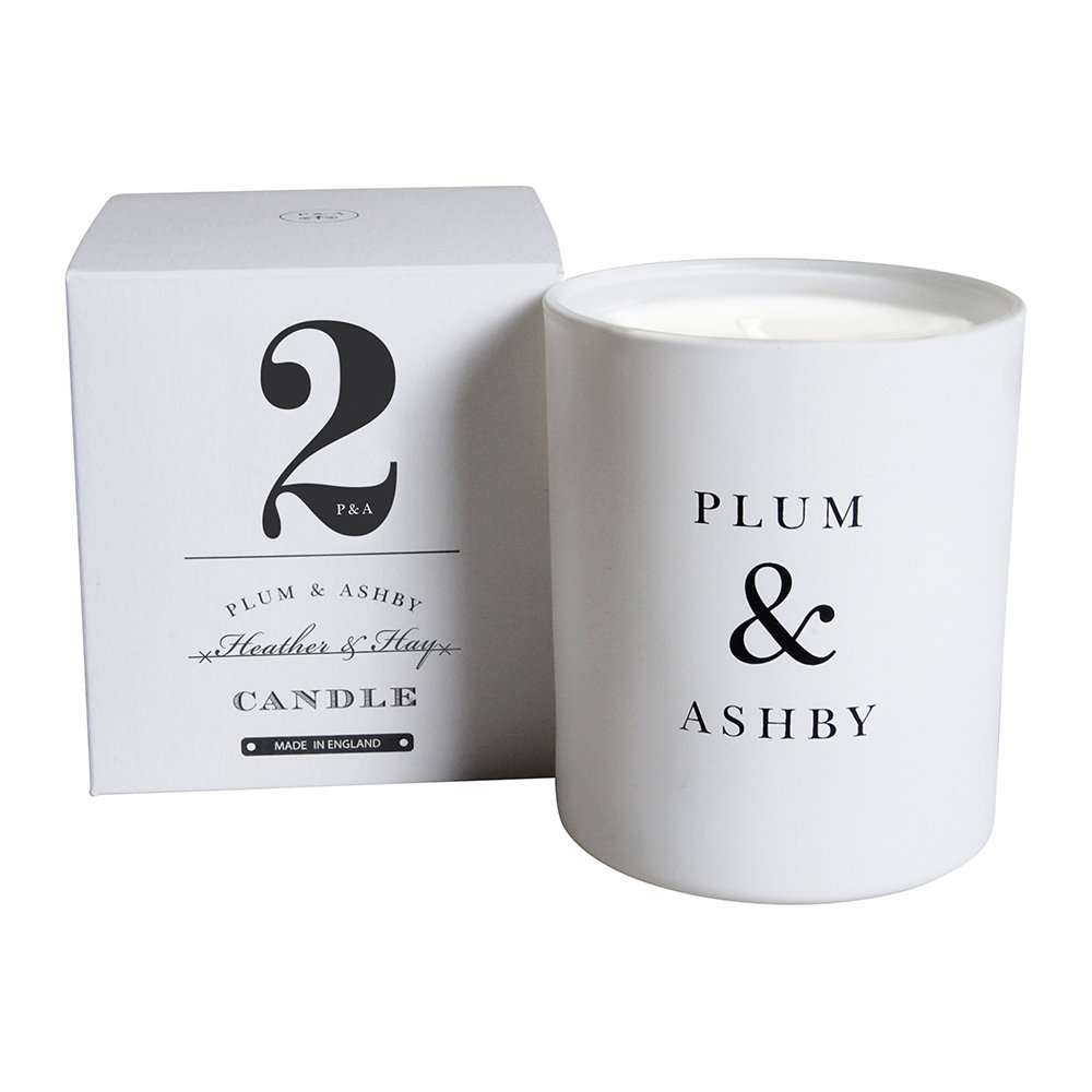 Plum  Ashby - Numbered Collection Scented Candle - Heather  Hay