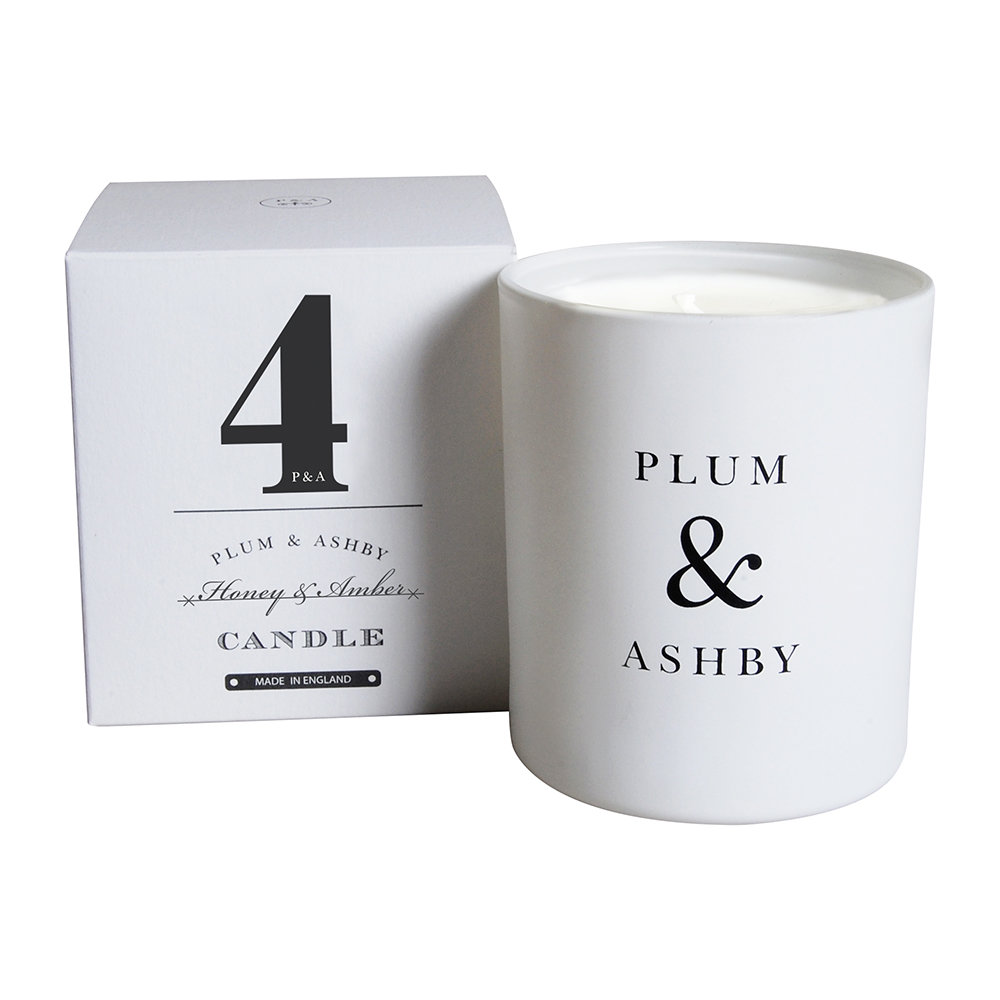 Plum  Ashby - Numbered Collection Scented Candle - Honey  Amber