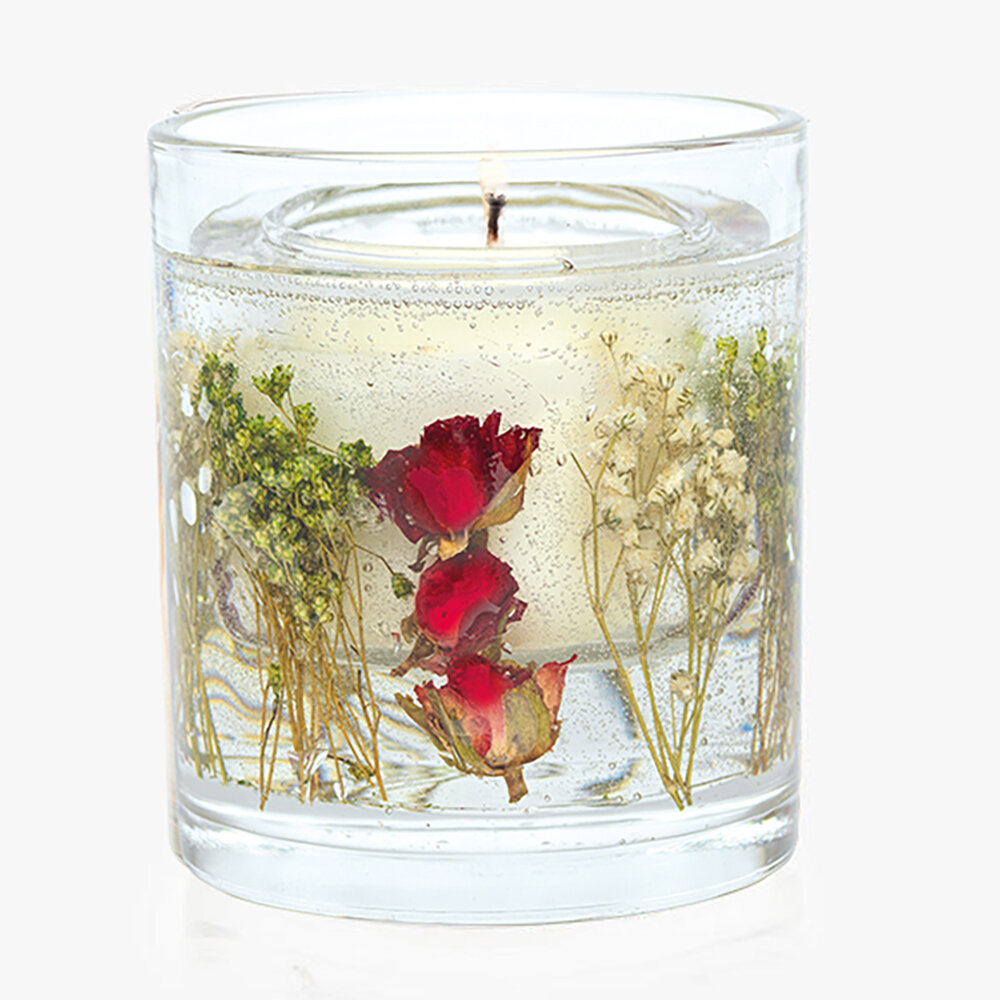 Stoneglow - Nature's Gift Gel Candle - Red Rose