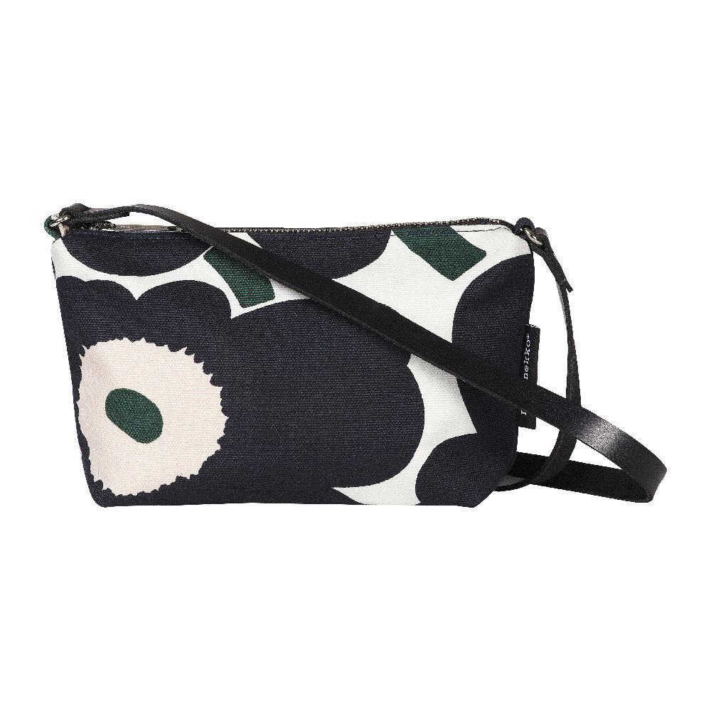 Marimekko - Heli Pieni Unikko Shoulder Bag - Off White/Dark Grey/Green