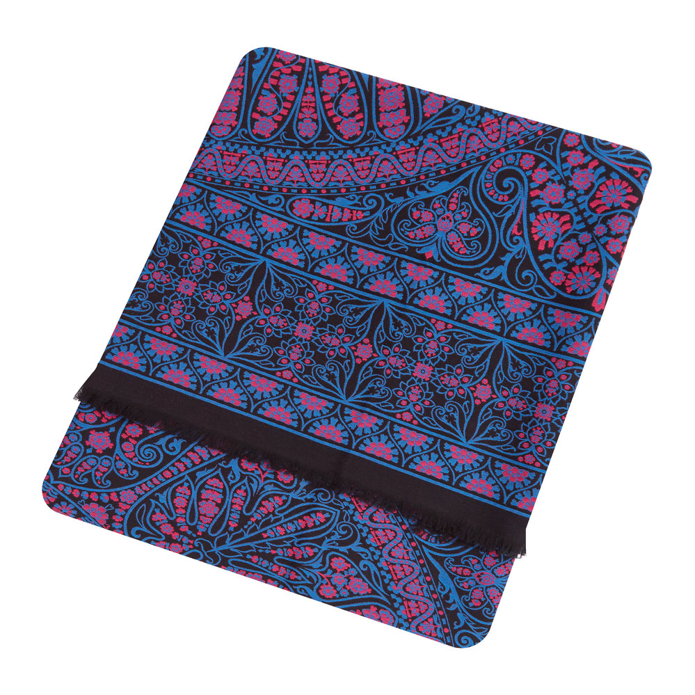 Liberty London - Aurora Throw - 140x180cm - Black/Blue