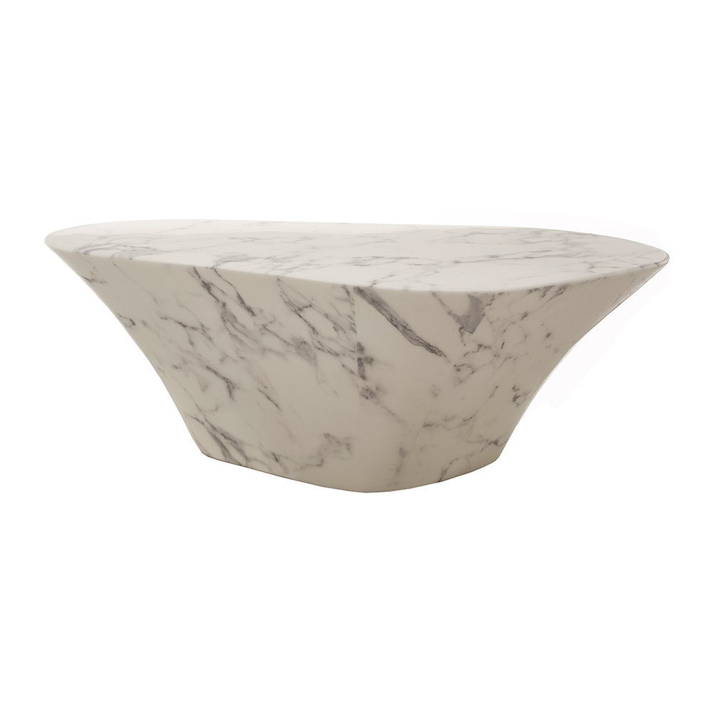 Oval Coffee Table Artificial Marble