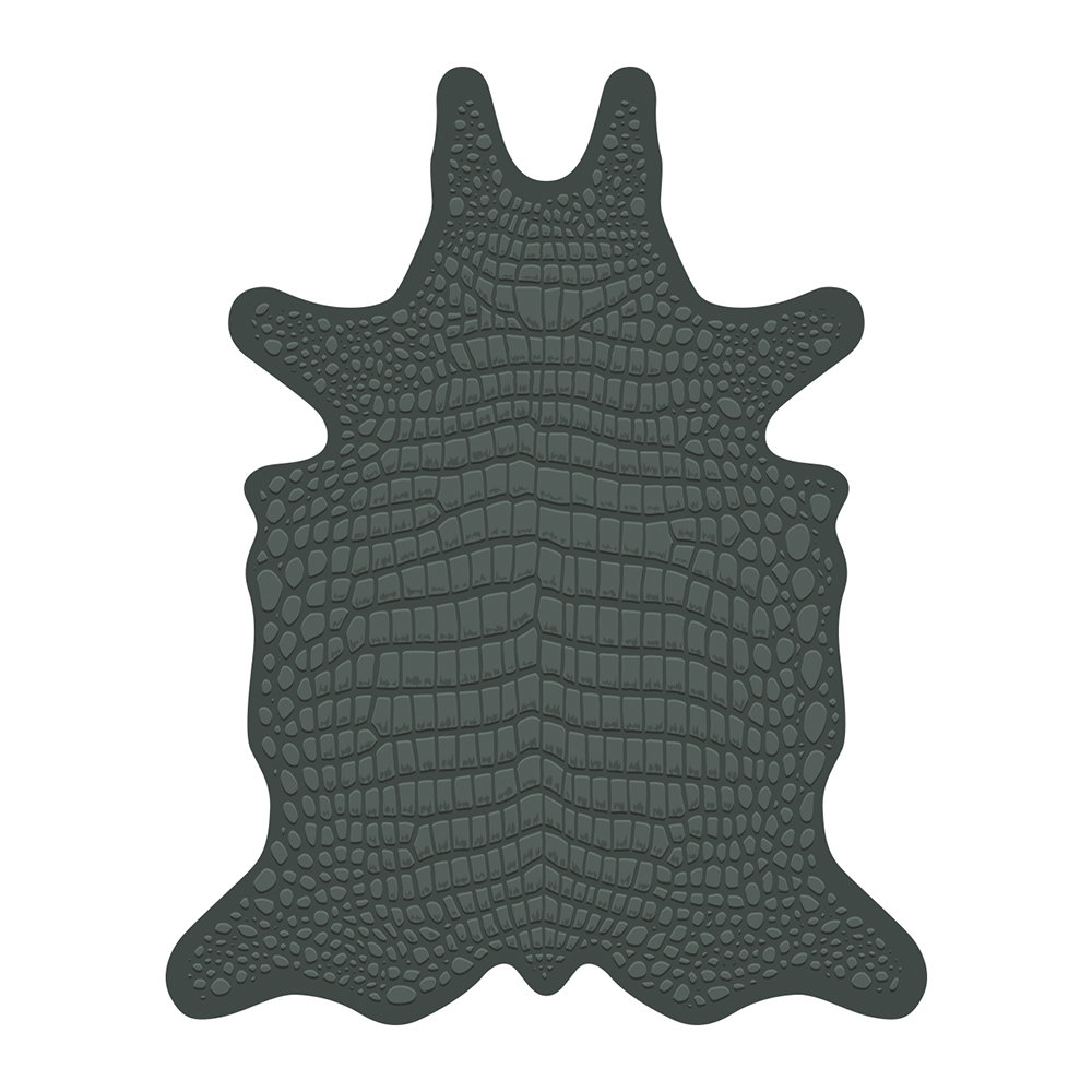 PODEVACHE - Croco Collection Vinyl Floor Mat - Green - Medium