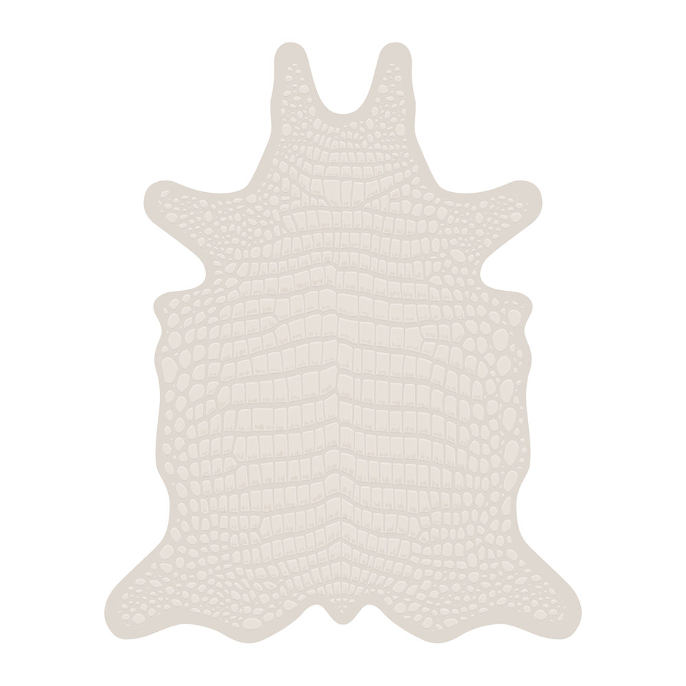 PODEVACHE - Croco Collection Vinyl Floor Mat - White - Large