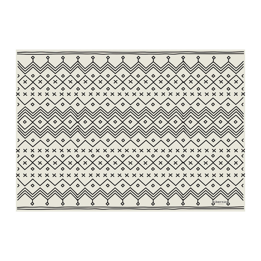 BEAUMONT - Kathmandu Gray Diamonds Vinyl Placemat
