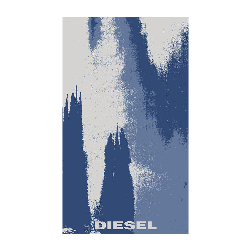 Diesel Living - Washed Colour Beach Towel - Blue