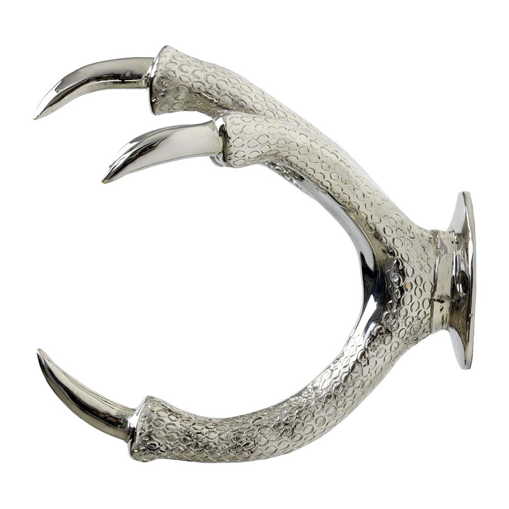 Garden Glory - Brass Claw Wall Mount - Silver