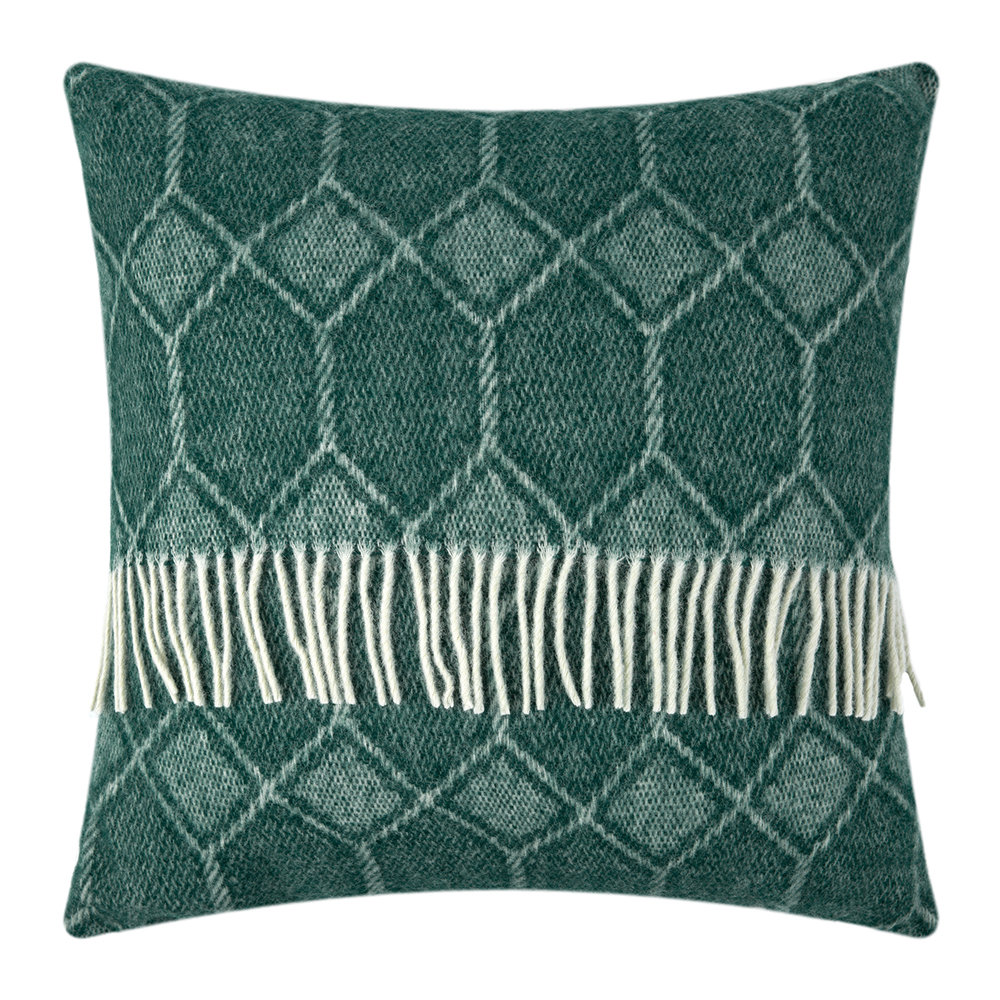 Tweedmill - Churchpane Wool Cushion - 60x60cm - Emerald