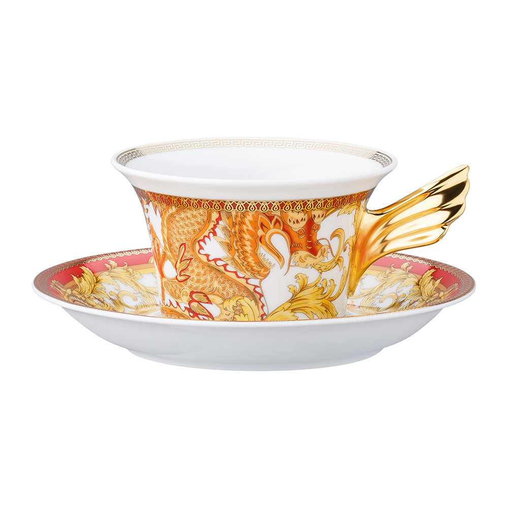 Versace Home - 25th Anniversary Asian Dream Teacup  Saucer - Limited Edition