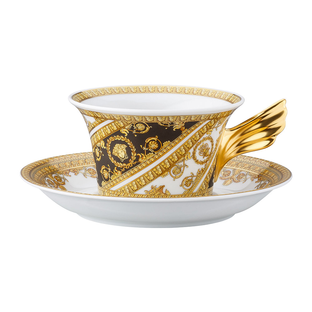 Versace Home - 25th Anniversary I Love Baroque Teacup & Saucer - Limited Edition