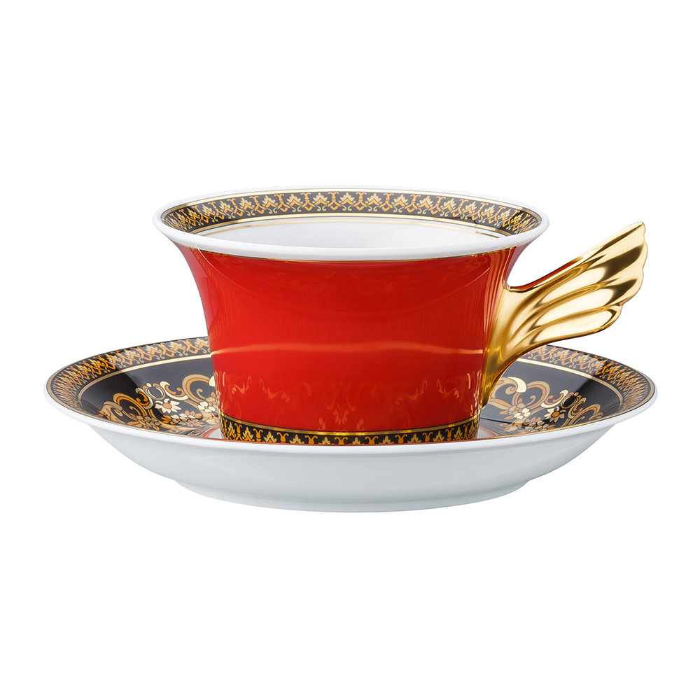 Versace Home - 25th Anniversary Medusa Teacup & Saucer - Limited Edition
