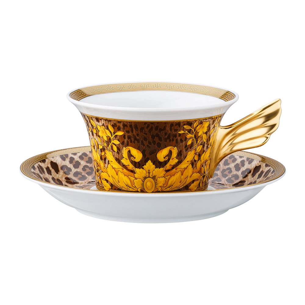 Versace Home - 25th Anniversary Wild Floralia Teacup & Saucer - Limited Edition