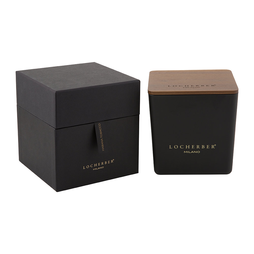 Locherber - Habana Tobacco Scented Candle  Canaletto Walnut Lid - 1.6kg