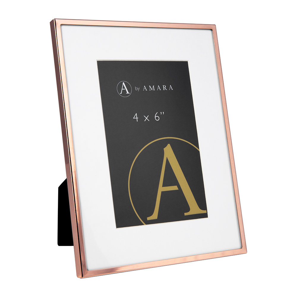 A by AMARA - Copper Plated Steel Photo Frame - 4x6""