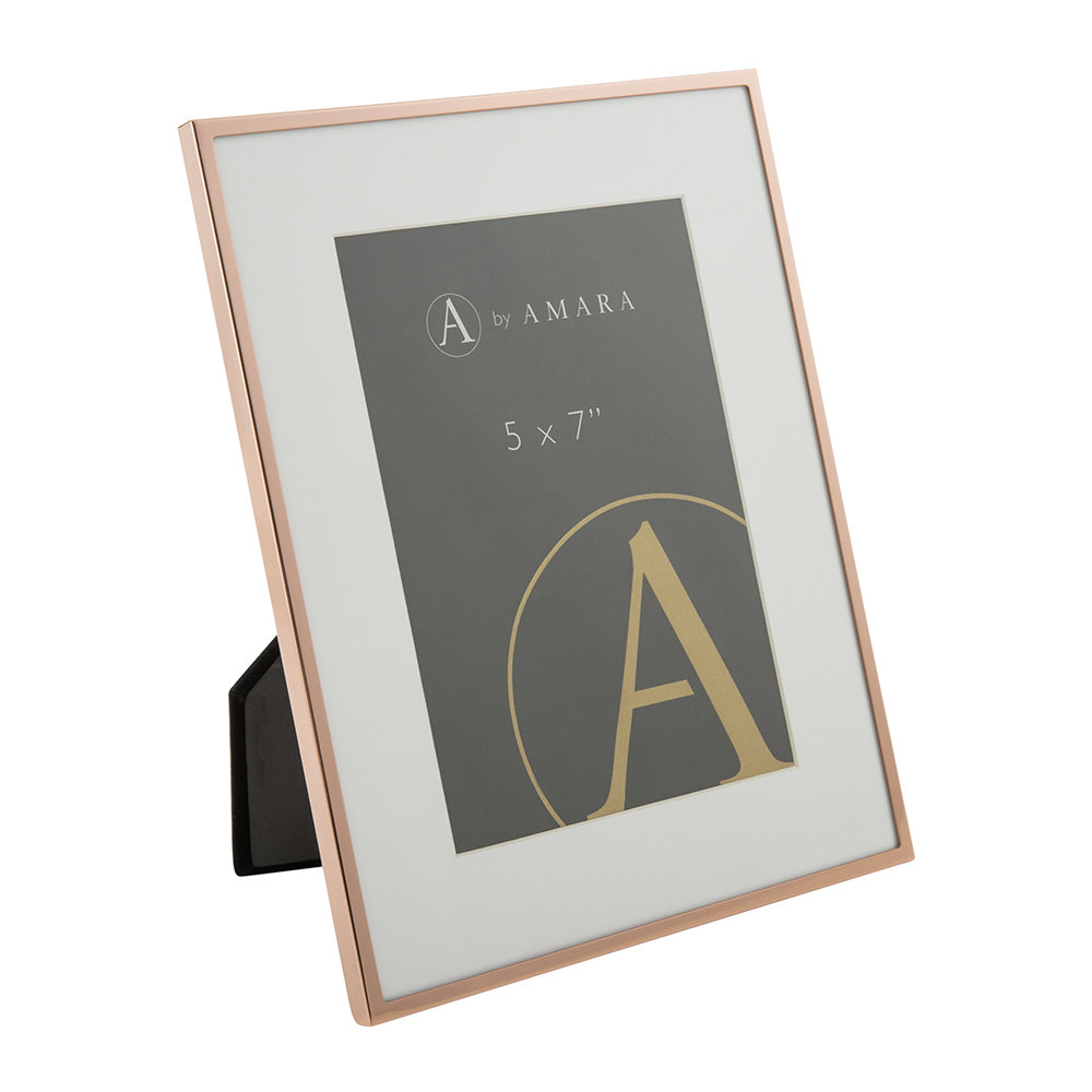 A by AMARA - Copper Plated Steel Photo Frame - 5x7""