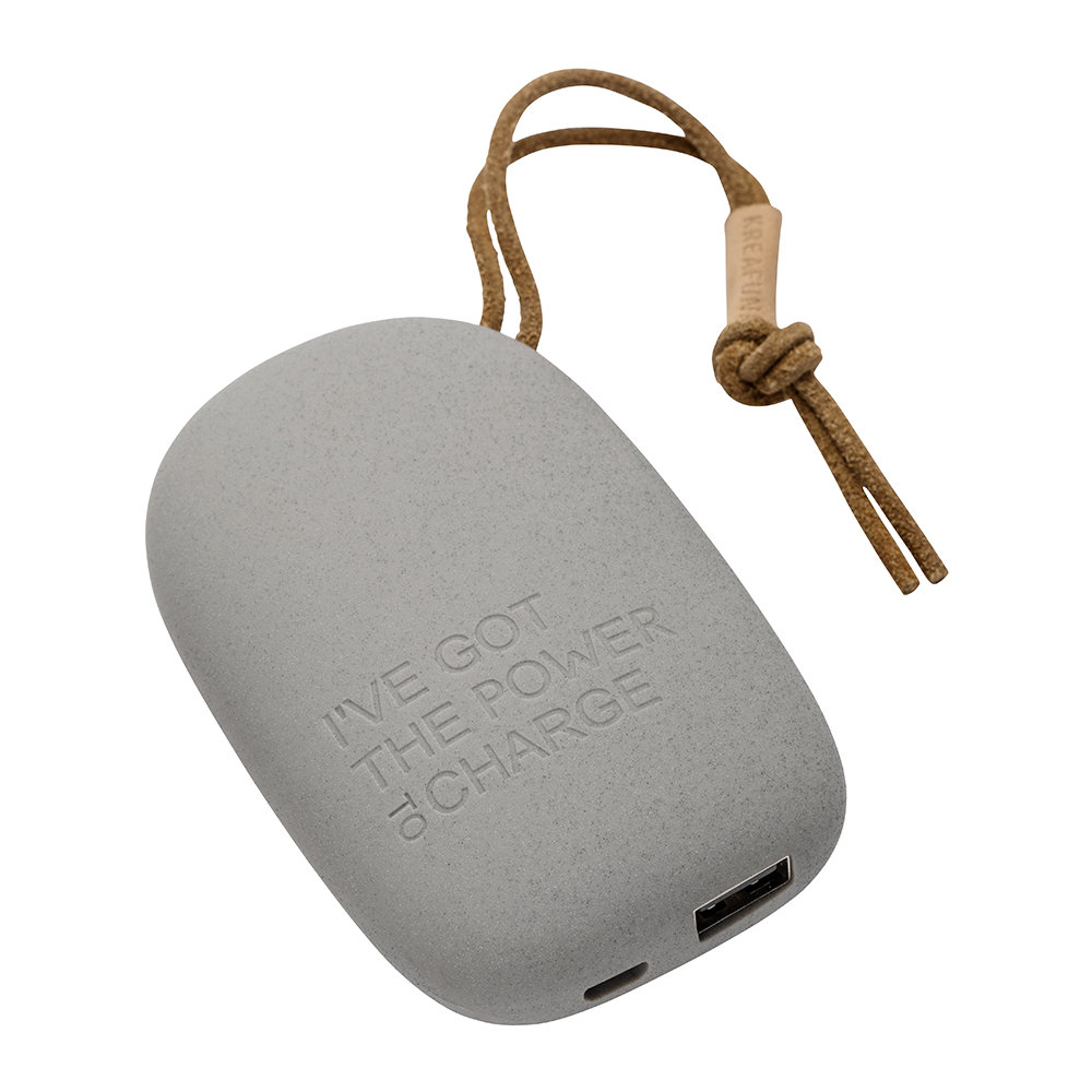 KREAFUNK - toCharge Portable Charger - Small - Dark Grey