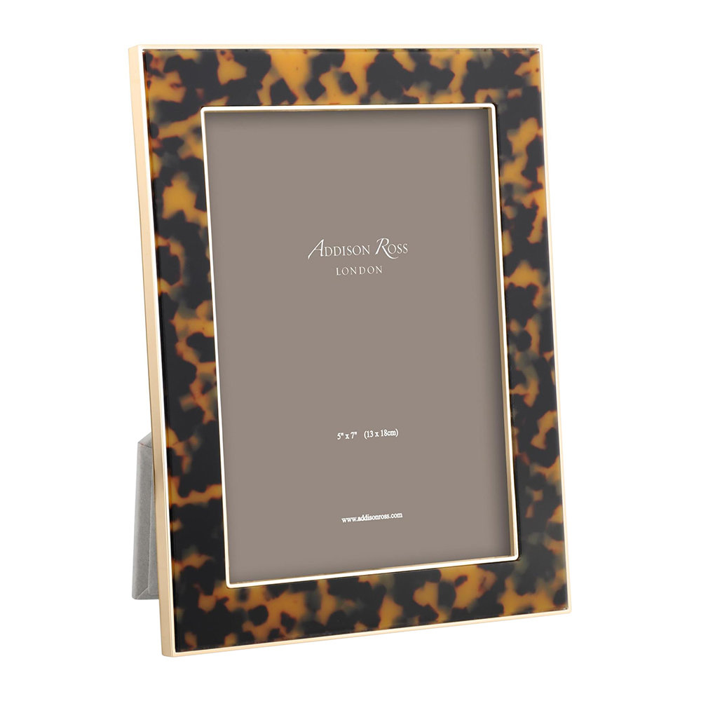 Addison Ross  Faux Tortoise Photo Frame  Gold  5x7