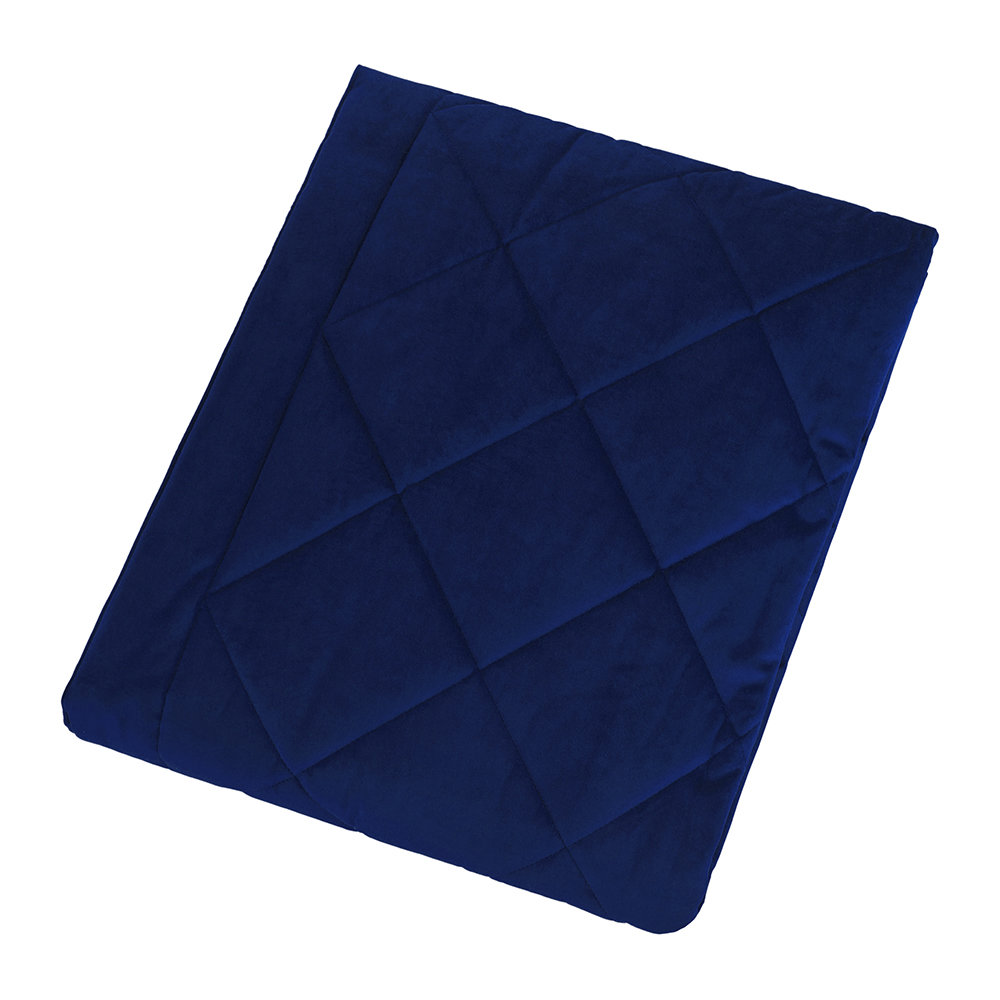 A by Amara - Diamond Velvet Bedspread - Royal Blue - 140x200cm