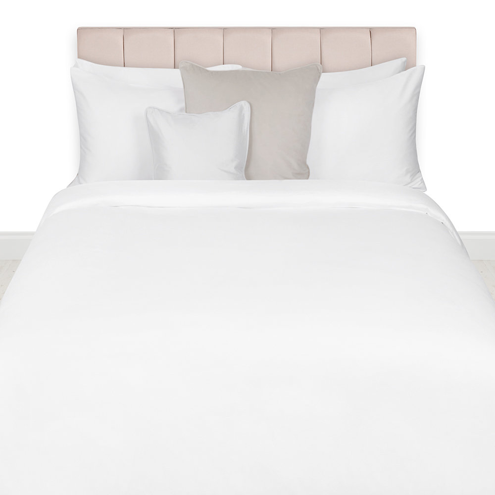 Essentials - Egyptian Cotton Quilt Cover - White - Super King
