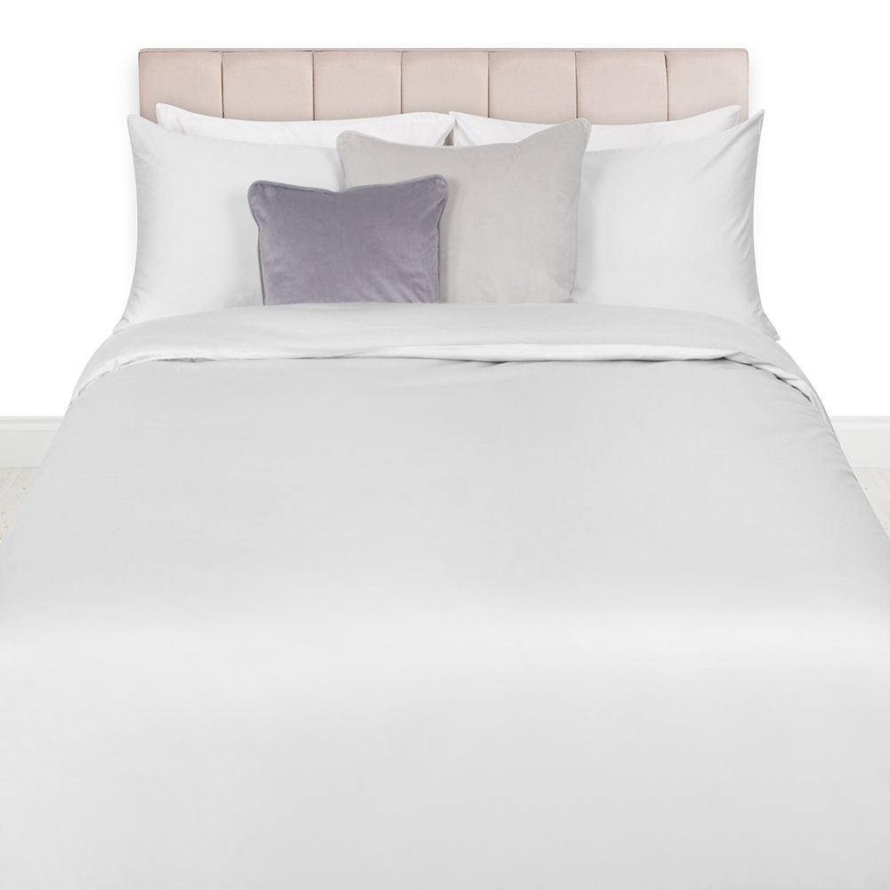 A by AMARA - Egyptian Cotton Duvet Cover - Silver - Super King