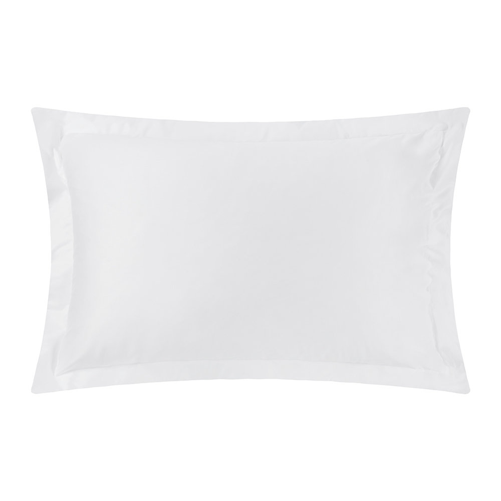 Image of A by AMARA - 500 Thread Count Sateen Oxford Pillowcase Pair - White