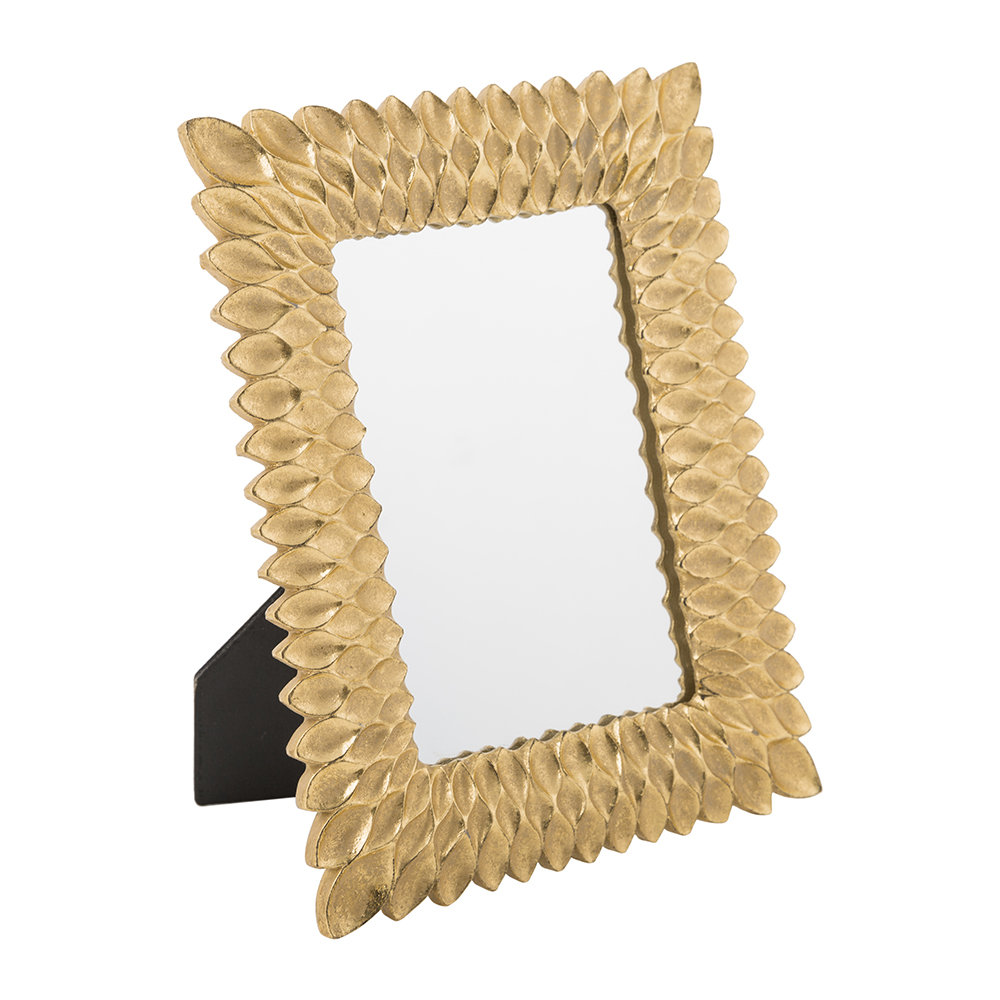A by Amara - Gold Feather Mirror