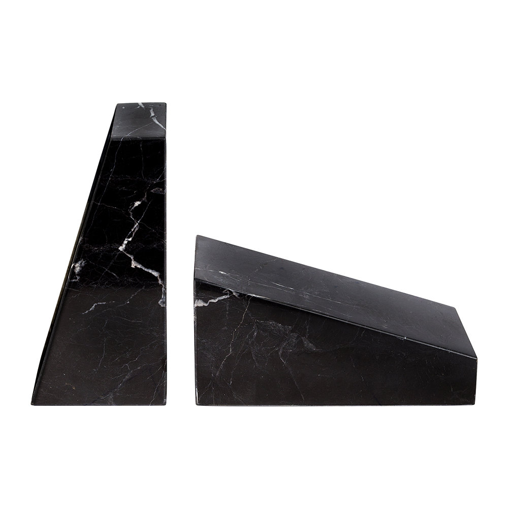 Stoned - Marble Book Ends - Black