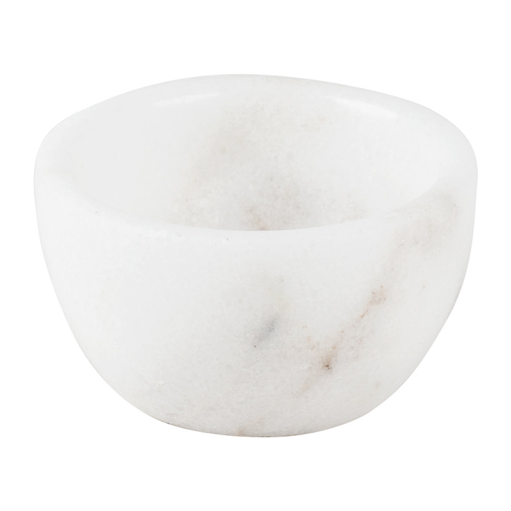 Stoned - Marble Spice Bowl - 6cm - White