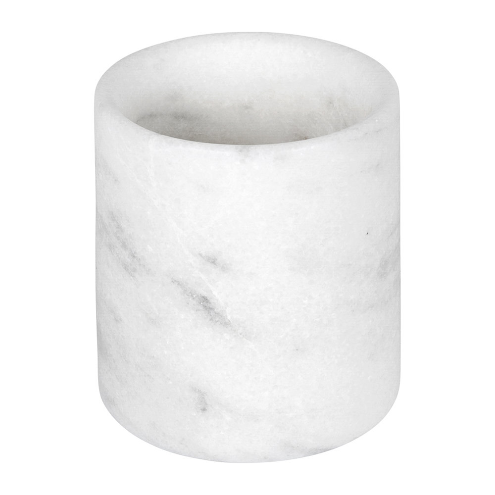 Stoned - Marble Pen Pot/Toothbrush Holder - White