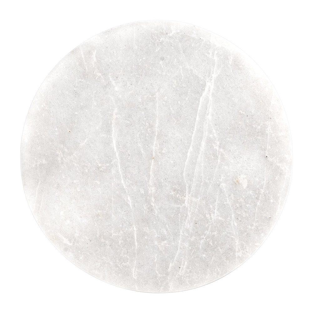 Stoned - Round Marble Serving Board - White