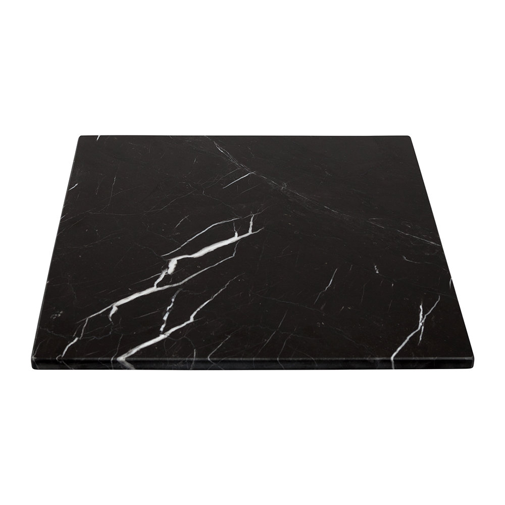 Stoned  Square Marble Serving Board  Black  30x30cm