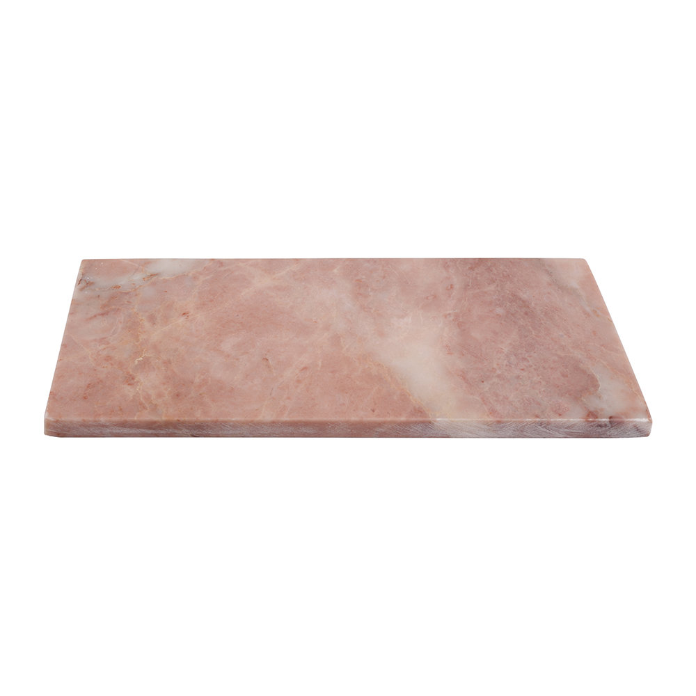 Stoned - Rectangular Marble Serving Board - Pink - 15x30cm