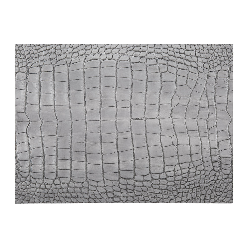 A by Amara - Gator Recycled Leather Placemat - Cloud