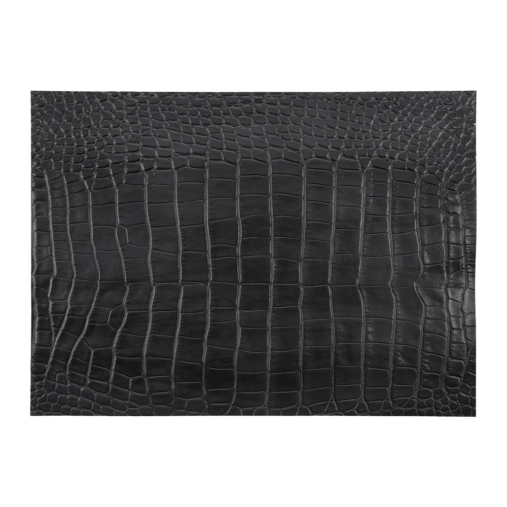 A by Amara - Gator Recycled Leather Placemat - Coal